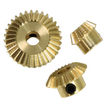 Custom Polished Brass Mini Bevel Gear med nav
