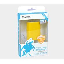 Caja de papel plástica del fabricante para Power Bank (paquete de regalo de plástico)