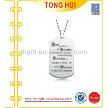 Imitation God dog tag necklace manufacturer jewelry