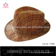 Chapéu de fedora barato feito por poliéster