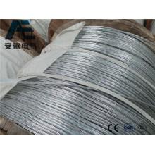 Alumoweld Alambre de acero recubierto de aluminio de alambre, Cable de tierra ASTM, Alumoweld Cable de alimentación