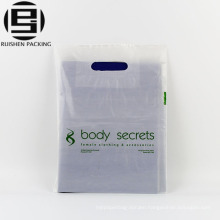 Die cut handle plastic bag for clothes shopping