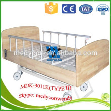 three functions wooden headboard electric hospital furniture