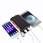 Outdoor Travel Compass Solar Mobile Power Bank