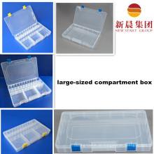 Groß dimensionierte transparente Kunststoff Aufbewahrungsbox