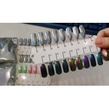 Rainbow effect holographic powder used for nail art