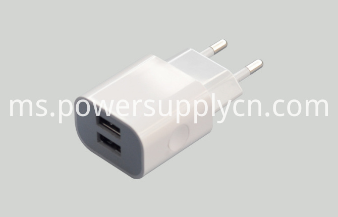 Dual USB Phone Travel Charger 5V2.1A