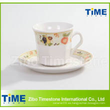 Taza de la porcelana 200CC y platillo / taza de café con el platillo (91006-001)