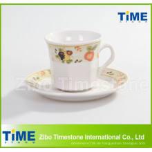 Porzellan 200CC Tasse und Untertasse / Kaffeetasse mit Untertasse (91006-001)