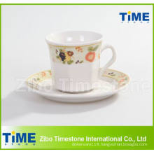 Porcelain 200CC Cup and Saucer / Coffee Cup With Saucer (91006-001)