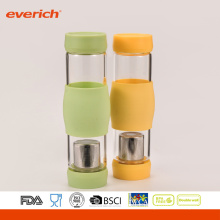High-Grade Borosilicate Glass Water Bottle With Inserts