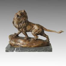 Sculpture en bronze animal Lion sculpture Statue en laiton Deco Tpal-081