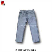 Wholesale girls washed jeans denim fabric long trousers for toddler