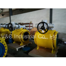 Big Size API 6D Full Port Trunnion Mounted Flanged Ball Valve