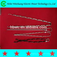 braçadeira pré-formada de alta tensão da tensão / fio do indivíduo para o encaixe de OPGW / ADSS