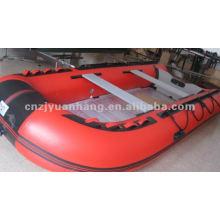 4,3 m con aluminio piso goma inflable bote/bote de salvamento / barco de pesca / barco de placer