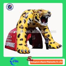 Agradable pintura tigre publicidad túnel inflable túnel tienda