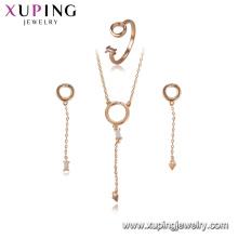 64461 xuping moda de cobre gota brinco do parafuso prisioneiro encantos conjunto de jóias