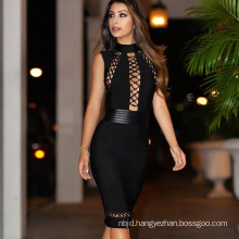 Black Waist Fashion New Bandage Dress