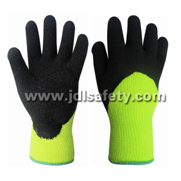 Hi-Viz Acrylic Work Glove with Latex 3/4 Coating (LY2037) (CE APPROVED)