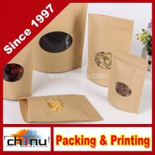Saco de papel branco personalizado do açúcar do café da farinha de Kraft com impressão do cliente (220112)