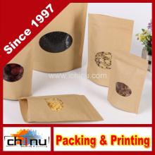 Персонализированные Белый Крафт муки сахара кофе бумажный мешок с печатание клиента (220112)
