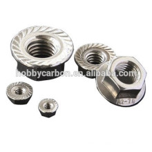 M3 Accurate Stainless Steel Flange Nuts