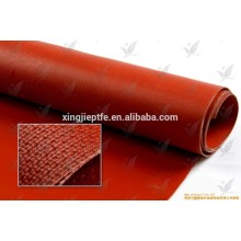 0,4 mm de résistance à la température en caoutchouc de silicone revêtue de tissu en fibre de verre coloré Tissu / Tissu en différentes couleurs