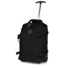Men Business Trip Outdoor Travel Luggage Two  Wheels Trolley  Backpack  Bags With Aluminium Tube