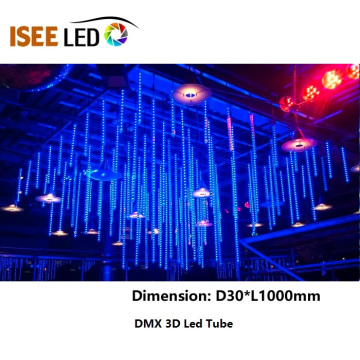 RGB DMX Led Star Falling Tube Light