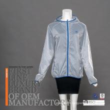 Young Lady Running Suit Sèche-linge rapide Vêtements de protection contre le soleil à capuche ultraléger