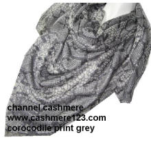 Кашемир Шелковый Corocodile площади серый шарф (Ty0906)