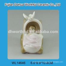 Creative berceau design bébé décoration en céramique blanche