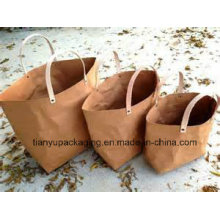 Biodegradable Brown Kraft Paper Bag with Handle
