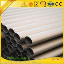 Profils en aluminium de soufflage de sable anodisés pour le tube et le tuyau en aluminium