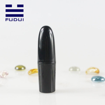 Wholesale empty shiny black bullet style lipstick case