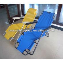 Chaise lounge chaise avec fonction inclinable pliante