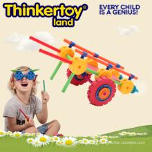 Mais recente ABS carro design criativo colorido bloco de construção de brinquedo