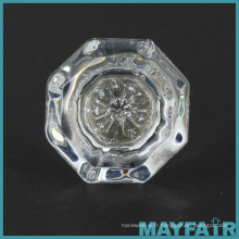 Poignée en verre à commande directe pour boîtier avec base en laiton