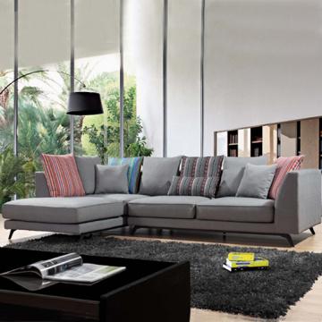 Corner Fabric Sectional L Shape Sofa Set