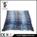 viscose and nylon blending dark blue hollow tassel spring shawl scarf