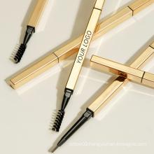 Gold Eyebrow Pencils Slim Waterproof Private Label Eyebrow Pencil Waterproof Thin Eye Brow Pencil Private Label Custom