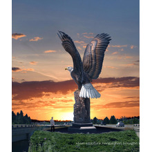 outdoor garden decoration high quality metal craft large brass eagle statue