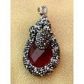 Подвеска ювелирных изделий ожерелья драгоценного камня драгоценного камня драгоценного камня с кристаллом