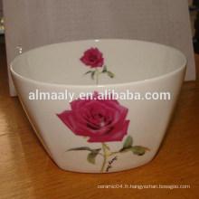 Céramique en céramique en pierre de corail avec rose rouge