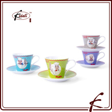 Nouveaux produits China Ceramic Tea Cup and Saucer Wholesale