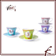 Novos produtos China Ceramic Tea Cup E Saucer Atacado