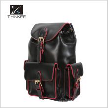 Sac à dos en cuir de haute qualité, beau sac à dos bon marché approprié d'adolescent