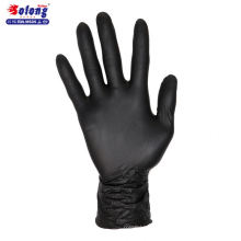 Solong tattoo S/M/L/authorized 100pcs black nitrile sterilized disposable tattoo gloves