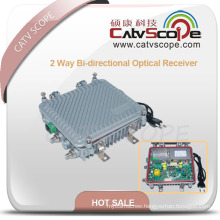 Outdoor 2 Way Output Bi-Directional Optical Receiver with AGC
